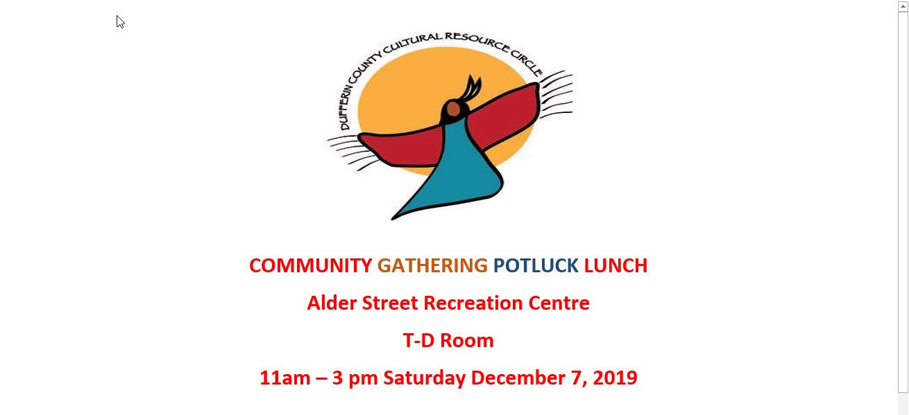 DCCRC Community Gathering Pot Luck Lunch